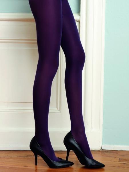 Barevné punčochy CHANGE 40 DEN Hosiery tmavě fialové - S