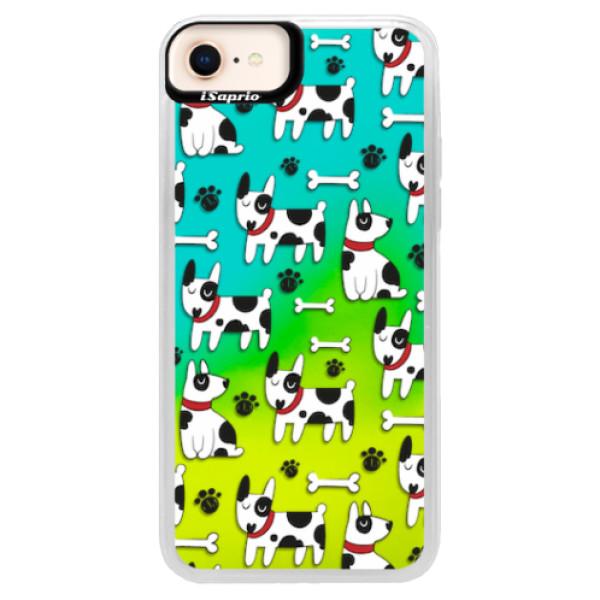 Neonové pouzdro Blue iSaprio - Dog 02 - iPhone 8