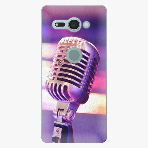 Plastový kryt iSaprio - Vintage Microphone - Sony Xperia XZ2 Compact