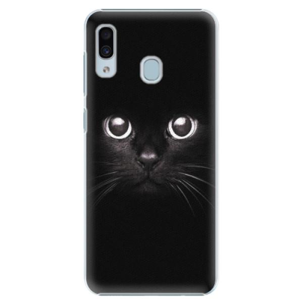Plastové pouzdro iSaprio - Black Cat - Samsung Galaxy A30