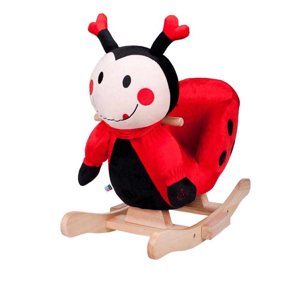 Houpací hračka s melodií PlayTo beruška - červená