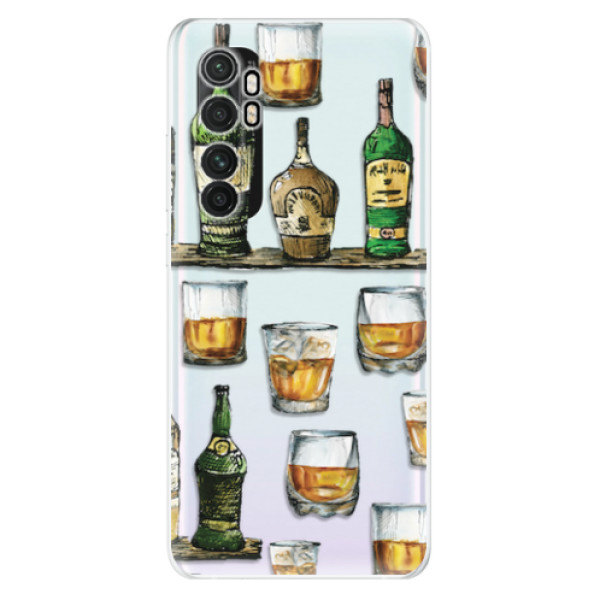 Odolné silikonové pouzdro iSaprio - Whisky pattern - Xiaomi Mi Note 10 Lite