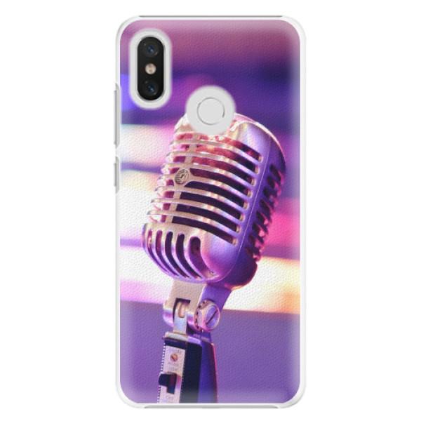 Plastové pouzdro iSaprio - Vintage Microphone - Xiaomi Mi 8