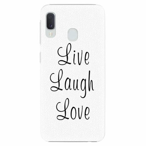 Plastový kryt iSaprio - Live Laugh Love - Samsung Galaxy A20e