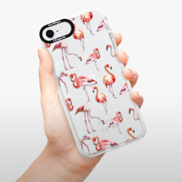 Silikonové pouzdro Bumper iSaprio - Flami Pattern 01 - iPhone SE 2020
