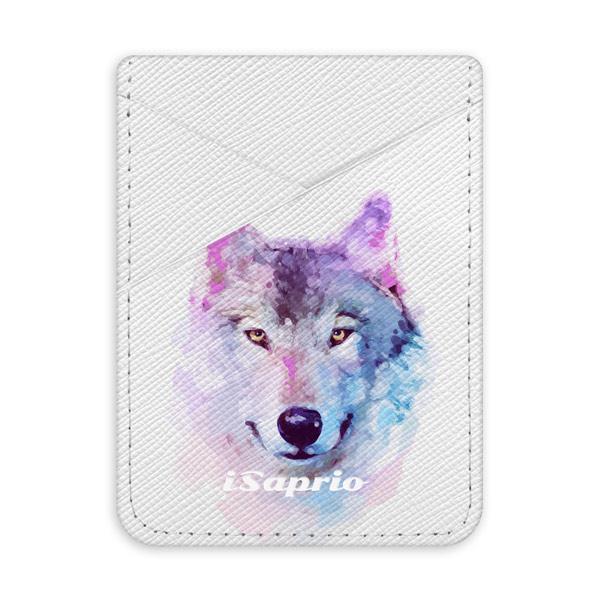 Pouzdro na kreditní karty iSaprio – Wolf 01 - světlá nalepovací kapsa