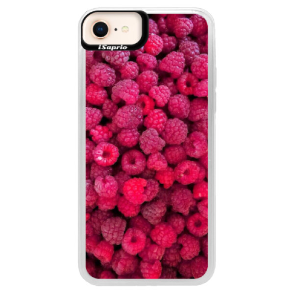 Neonové pouzdro Blue iSaprio - Raspberry - iPhone 8