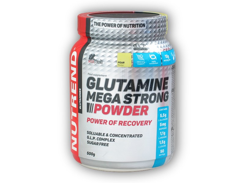 Glutamine Mega Strong Powder 500g - akce-hruska