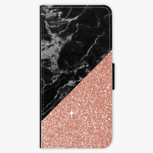 Flipové pouzdro iSaprio - Rose and Black Marble - Sony Xperia XA