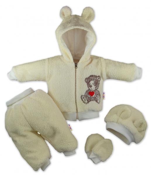 baby-nellys-5-ti-dilny-chlupackovy-komplet-teddy-vel-80-kremovy-80-9-12m