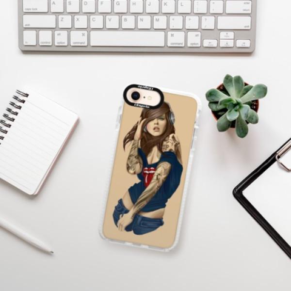 Silikonové pouzdro Bumper iSaprio - Girl 03 - iPhone 8