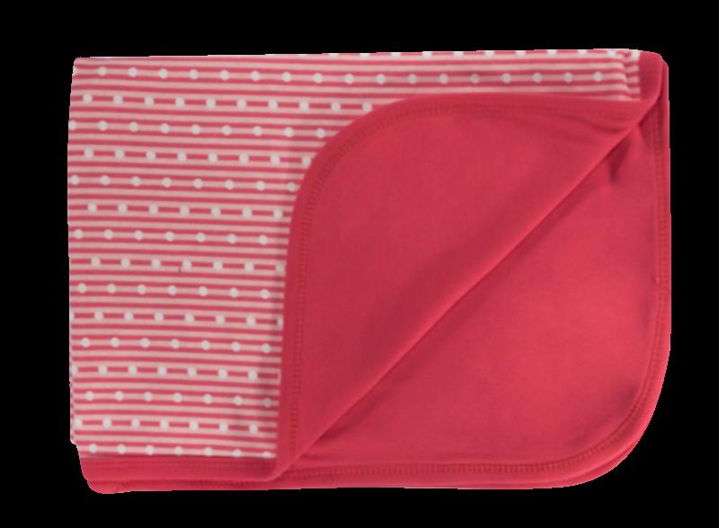 Dětská deka, dečka Love Girl, 80x90 - bavlna, červená