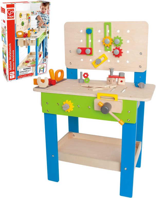 DŘEVO HAPE Dětský ponk set s nářadím a doplňky