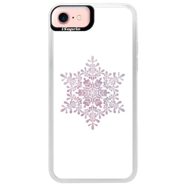 Neonové pouzdro Pink iSaprio - Snow Flake - iPhone 7