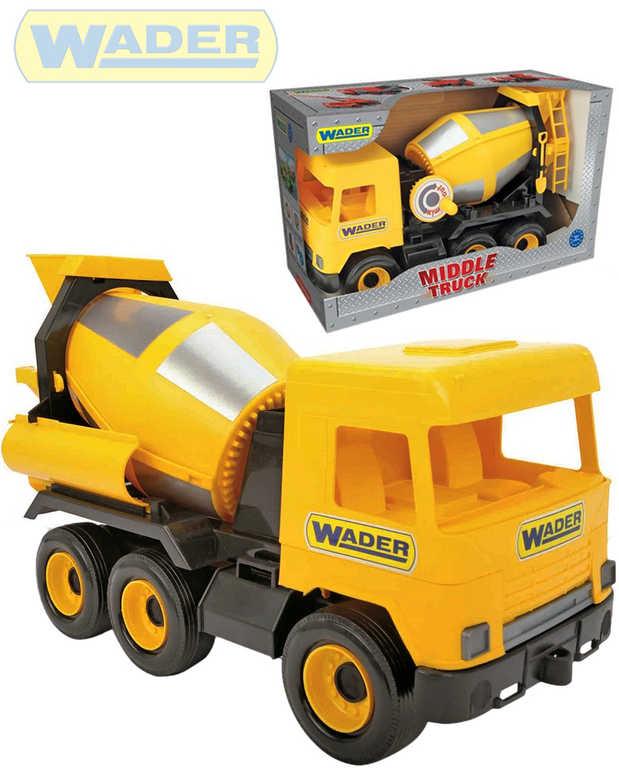 WADER Middle Truck auto domíchávač betonu 38cm žluté plastové 32124