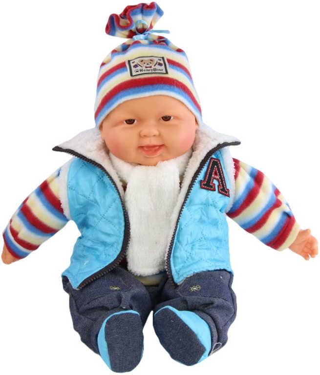 Miminko velké kluk 55cm panenka zimní oblečení v sáčku