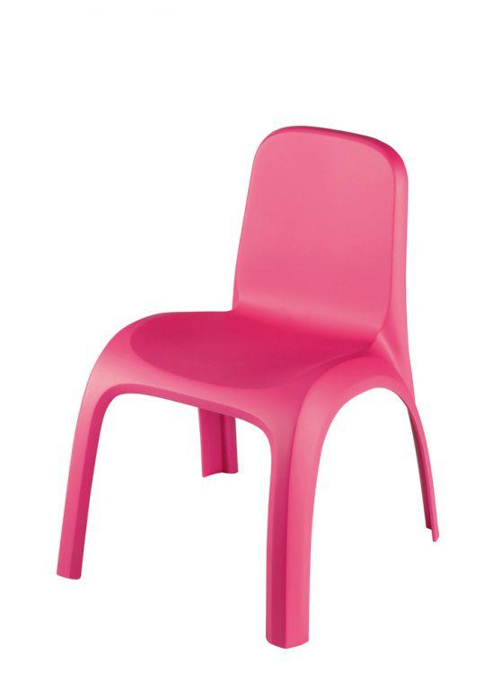 Dětské plastové křeslo KIDS CHAIR- růžové