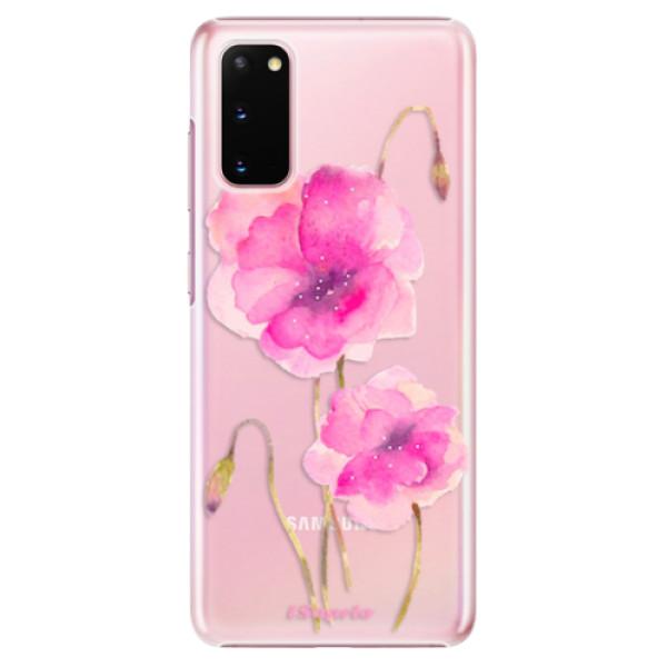 Plastové pouzdro iSaprio - Poppies 02 - Samsung Galaxy S20