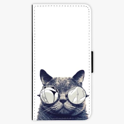 Flipové pouzdro iSaprio - Crazy Cat 01 - Samsung Galaxy A3 2017