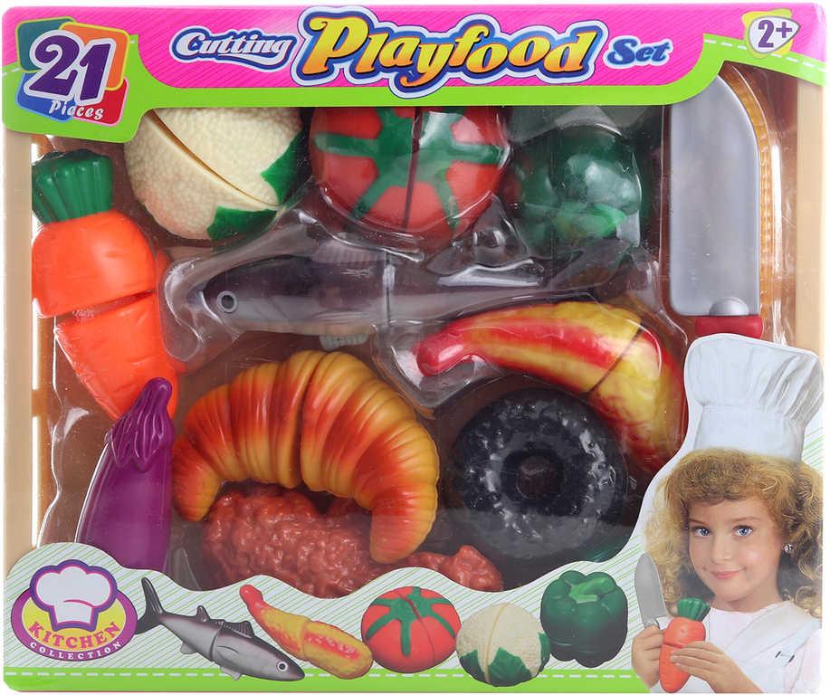 Sada kuchyňská krájecí potraviny na suchý zip set s nožíkem v bedýnce plast