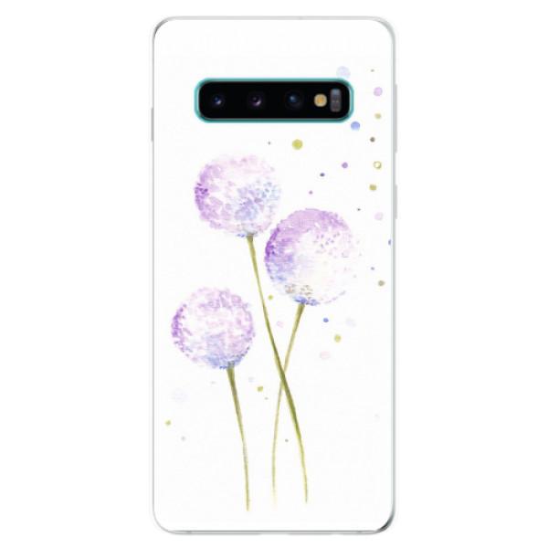 Odolné silikonové pouzdro iSaprio - Dandelion - Samsung Galaxy S10