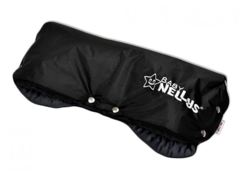 Rukávník ke kočárku Baby Nellys ® minky - grafit/černý