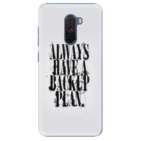 Plastové pouzdro iSaprio - Backup Plan - Xiaomi Pocophone F1