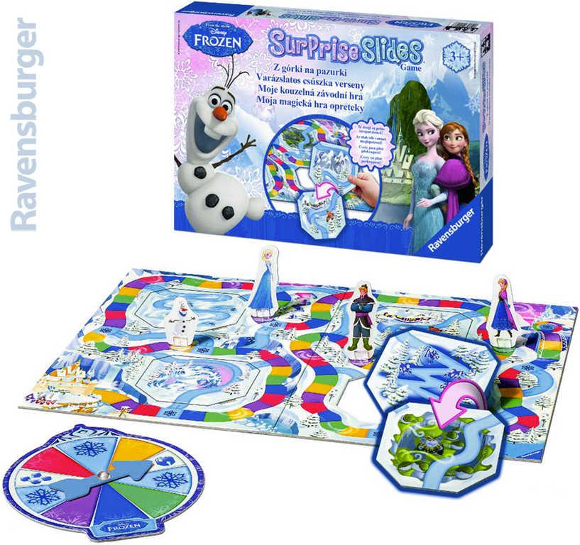RAVENSBURGER Hra Surprise Slides Frozen (Ledové Království) Moje kouzelná závodní hra