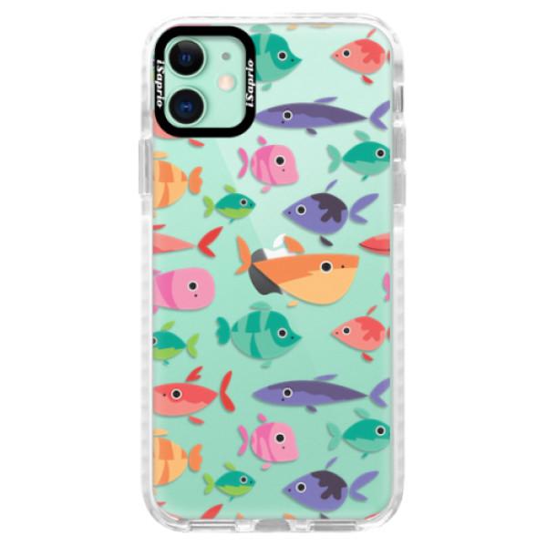 Silikonové pouzdro Bumper iSaprio - Fish pattern 01 - iPhone 11