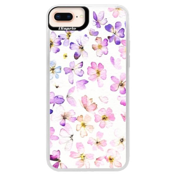 Neonové pouzdro Pink iSaprio - Wildflowers - iPhone 8 Plus
