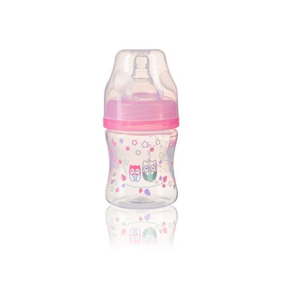 BabyOno Antikoliková lahev se širokým hrdlem BabyOno - růžová