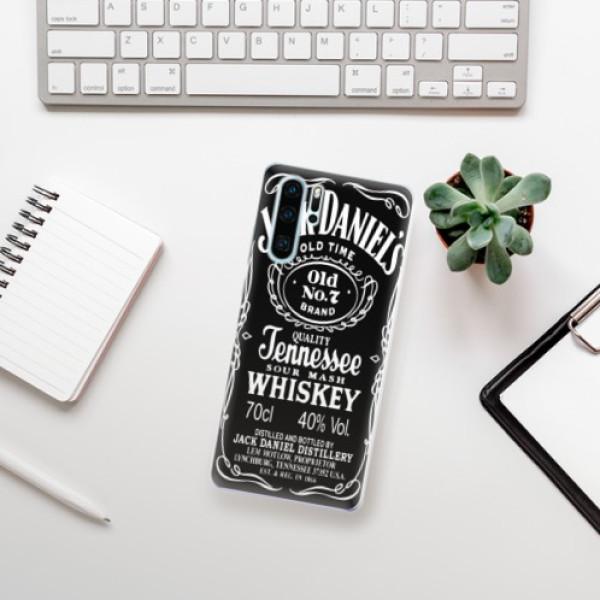 Odolné silikonové pouzdro iSaprio - Jack Daniels - Huawei P30 Pro