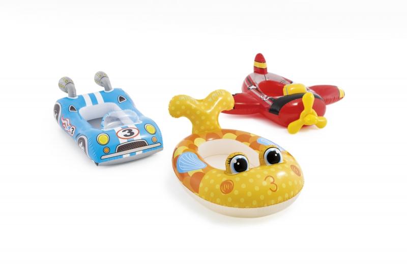 Nafukovací člun dětský veselý vzor, 3 druhy