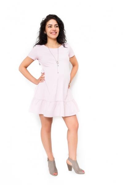 Těhotenské šaty Adela - světle růžová - L