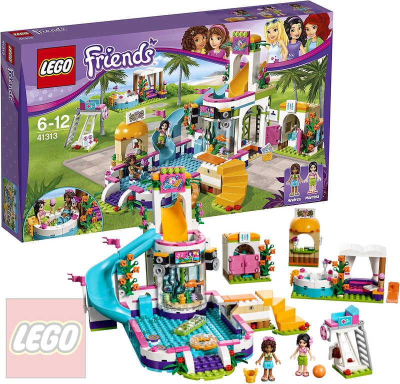 LEGO FRIENDS Letní bazén v městečku Heartlake 41313 STAVEBNICE