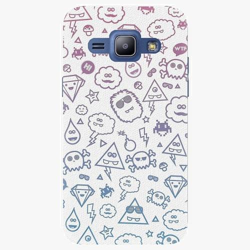 Plastový kryt iSaprio - Funny Clouds - Samsung Galaxy J1