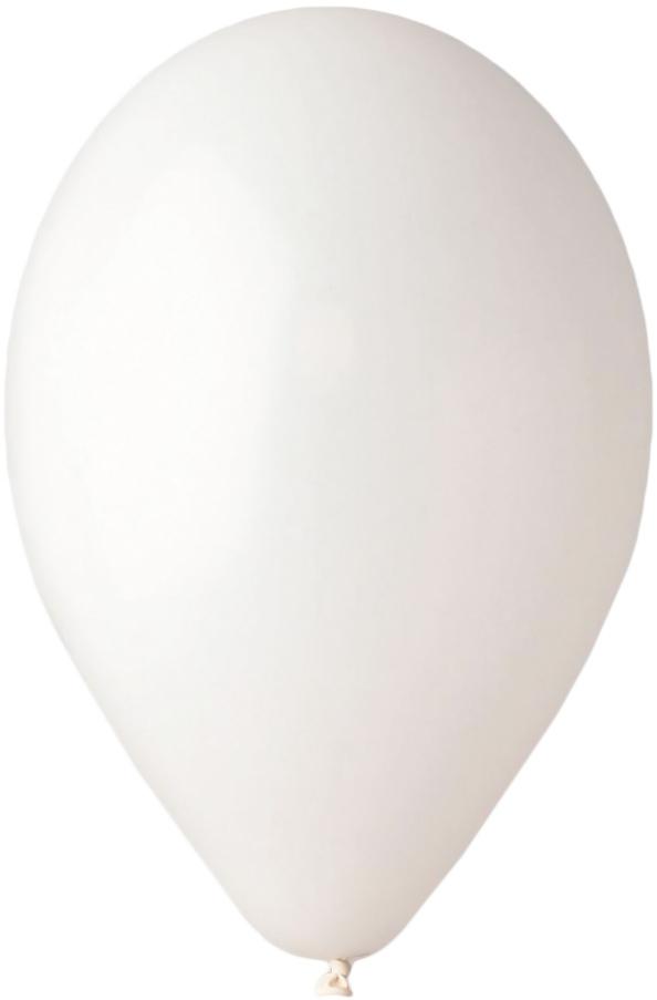 GEMAR Balónek nafukovací kulatý 28/90cm bílý G90-01