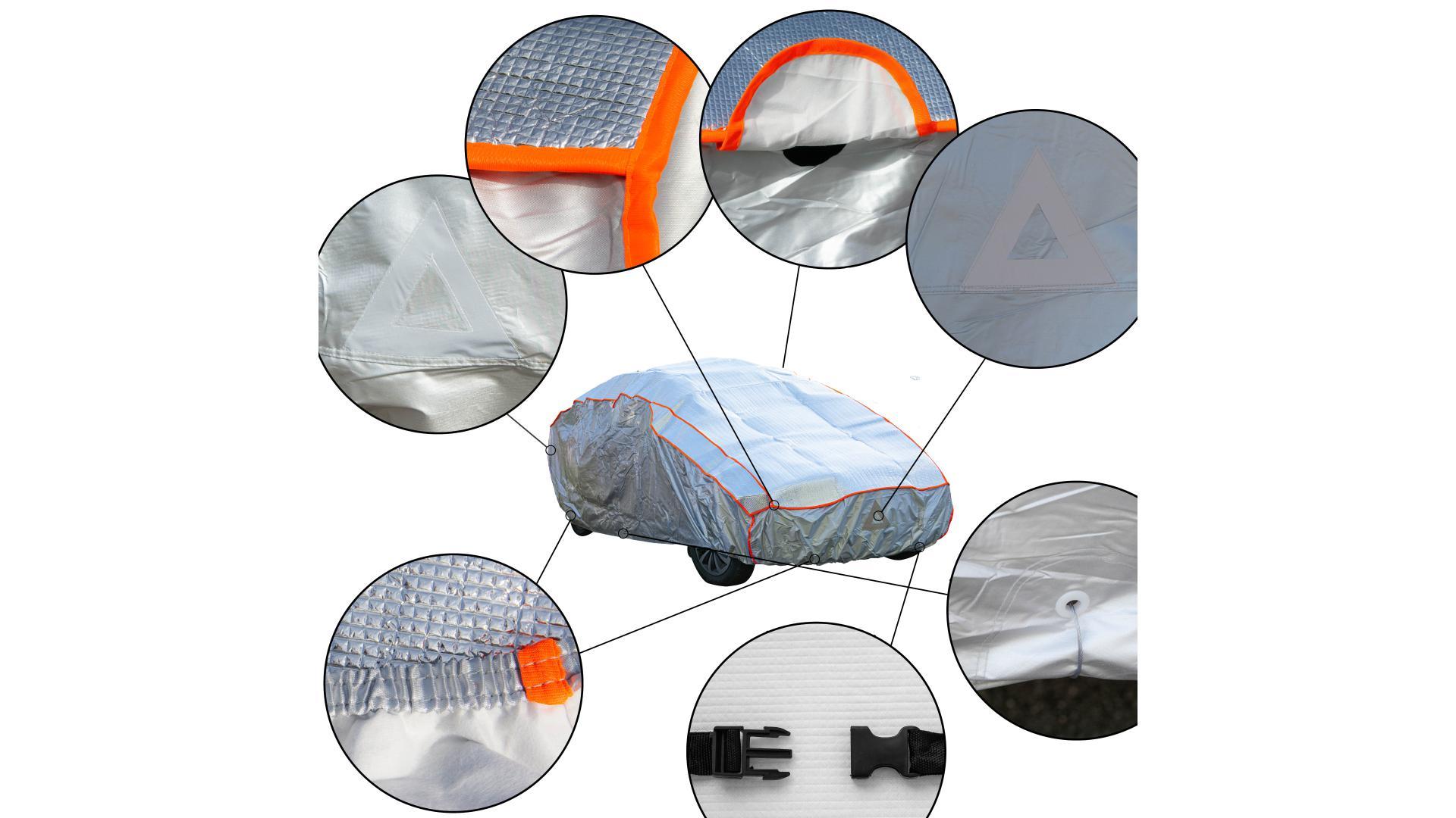 4CARS Autoplachta proti krupobití - bavlněná podšívka - XL