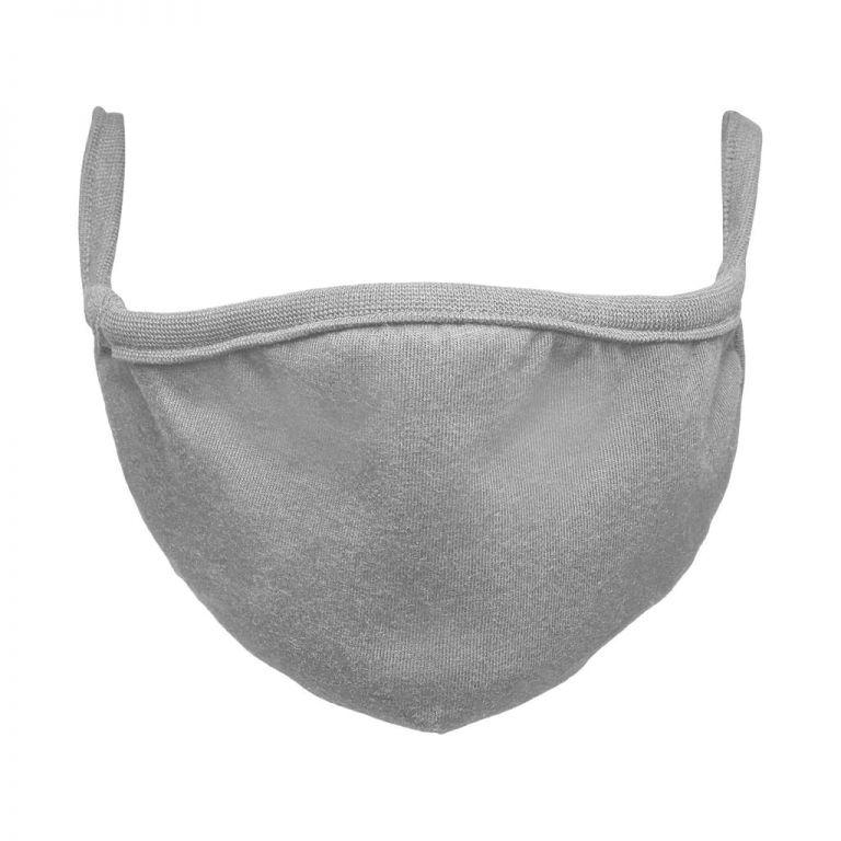 Bavlněná rouška dvouvrstvá - šedá 2 ks