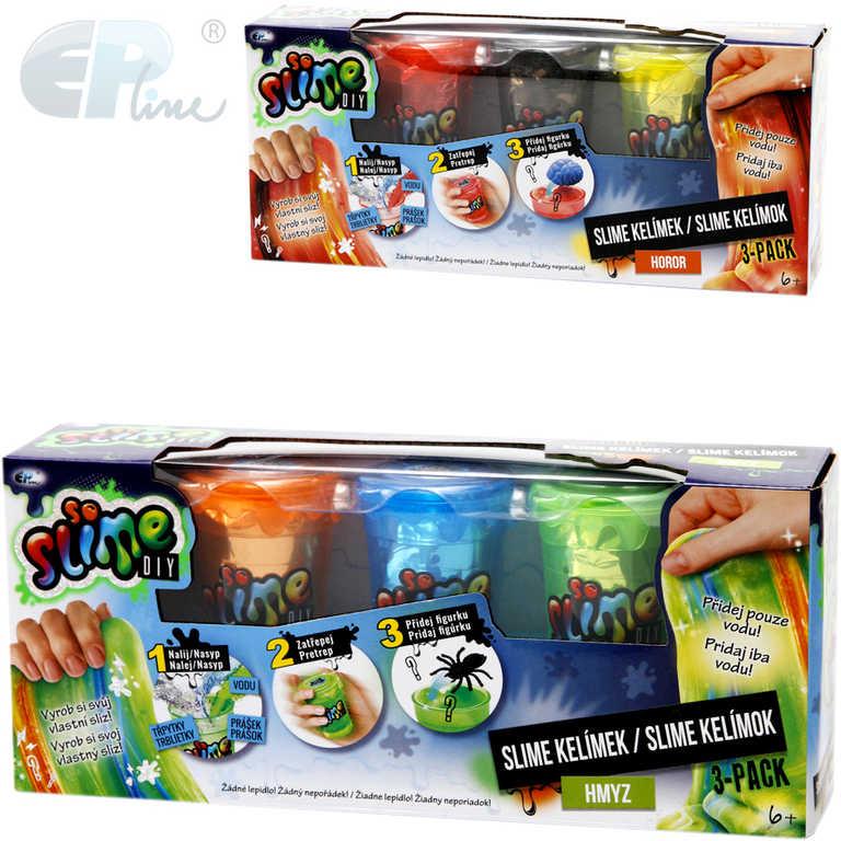 EP line So Slime výroba slizu set kelímek 3ks s figurkami se třpytkami pro kluky