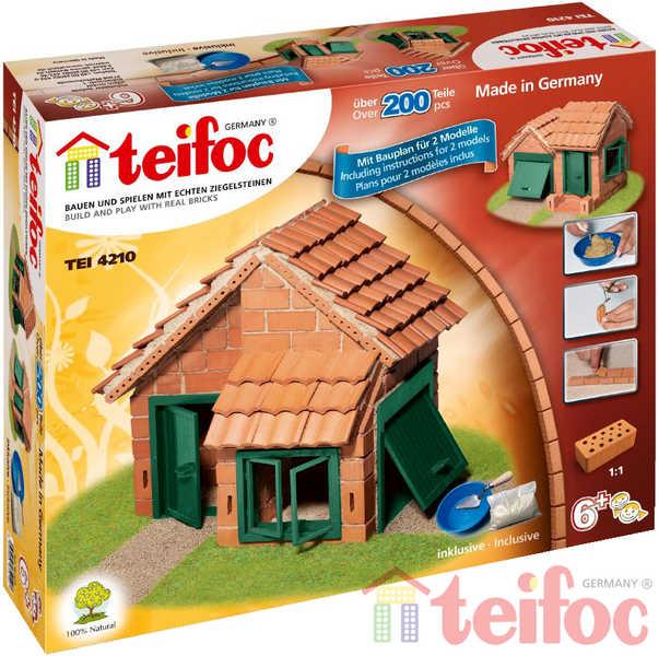 TEIFOC Domek Albert 4210 *Stavebnice cihly s maltou*