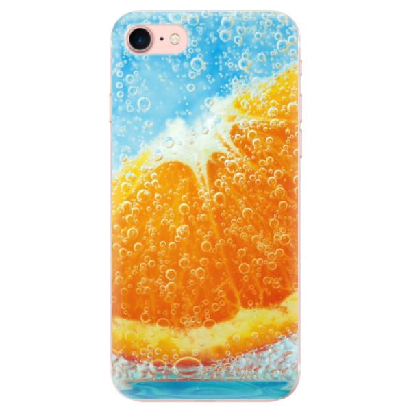 Odolné silikonové pouzdro iSaprio - Orange Water - iPhone 7
