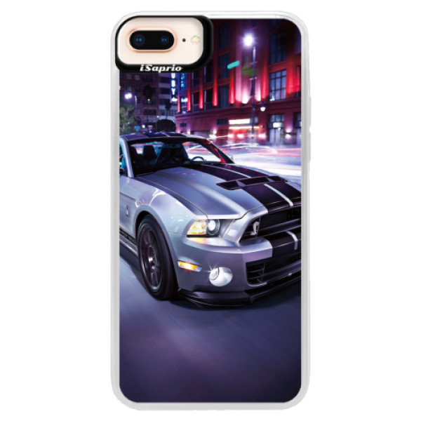 Neonové pouzdro Pink iSaprio - Mustang - iPhone 8 Plus