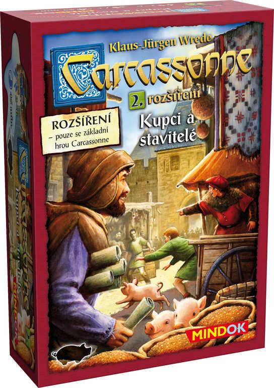 MINDOK HRA Carcassonne rozšíření 2 Kupci a stavitelé *SPOLEČENSKÉ HRY*