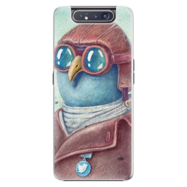 Plastové pouzdro iSaprio - Pilot twitter - Samsung Galaxy A80