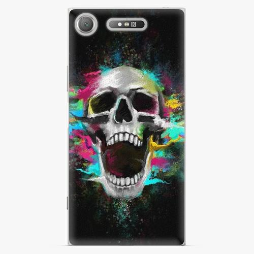 Plastový kryt iSaprio - Skull in Colors - Sony Xperia XZ1