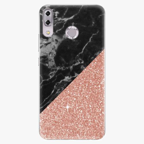 Plastový kryt iSaprio - Rose and Black Marble - Asus ZenFone 5Z ZS620KL
