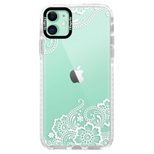 Silikonové pouzdro Bumper iSaprio - White Lace 02 - iPhone 11
