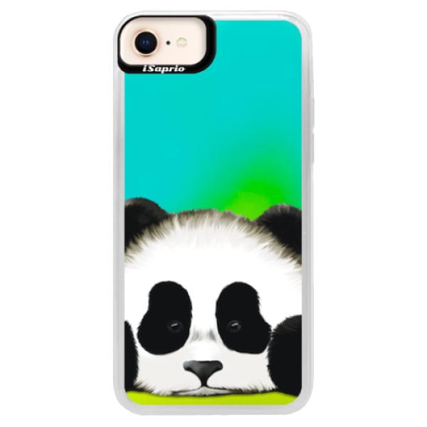 Neonové pouzdro Blue iSaprio - Sad Panda - iPhone 8