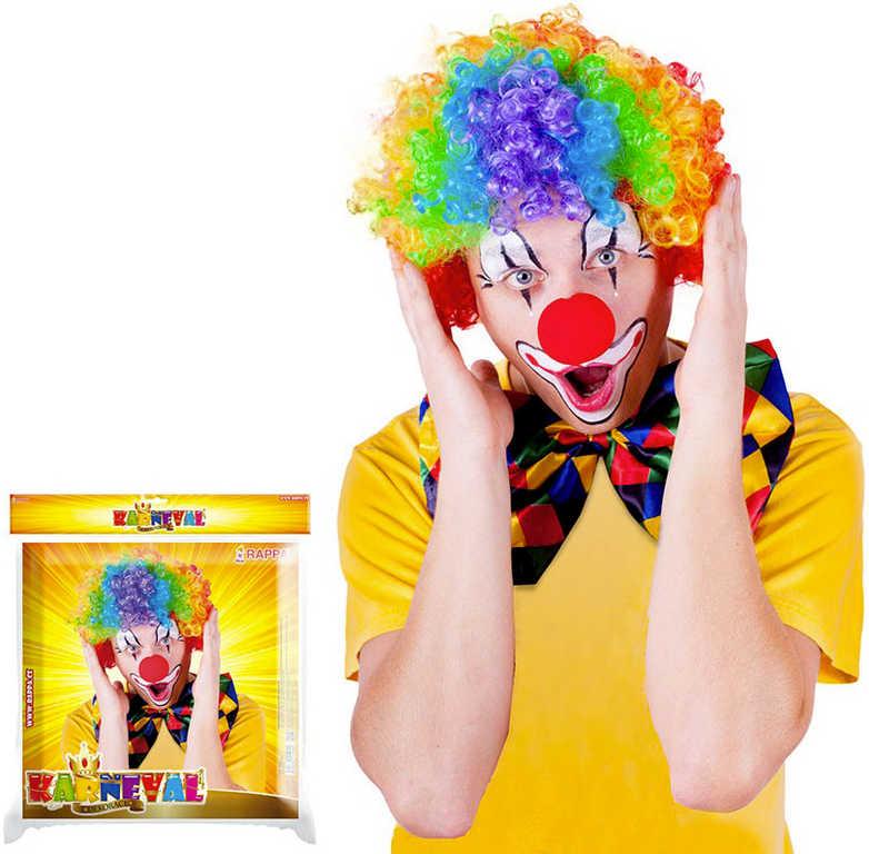 KARNEVAL Paruka klaun barevná duhová pro dospělé KARNEVALOVÝ DOPLNĚK